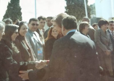 مع ملكة إسبانيا صوفيا