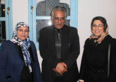مع الشاعر الفلسطيني أحمد النجار والدكتورة سعاد ناصر