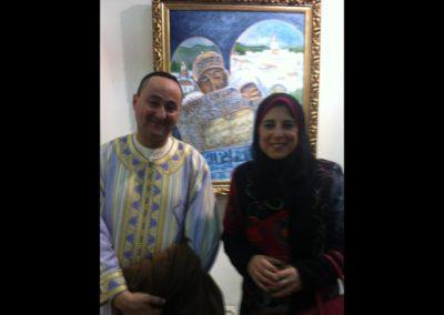 خلال معرض تشكيلي مع الفنان حسن الرحالي
