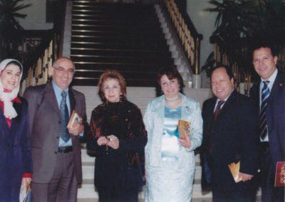 بدار الأوبرا المصرية مع الدكتورة رتيبة الحفني والمطرب محمد الزبادي