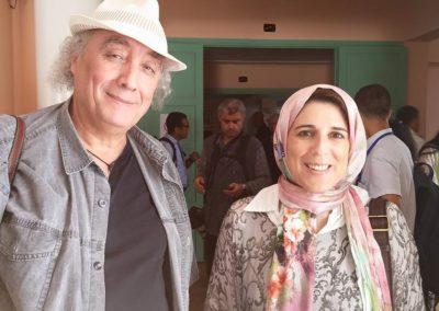 مع المؤلف وسيني الأعرج بمهرجان أصيلة الدولي