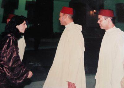 مع صاحب الجلالة الملك محمد السادس بمدينة تطوان خلال إحياء ذكرى عيد العرش